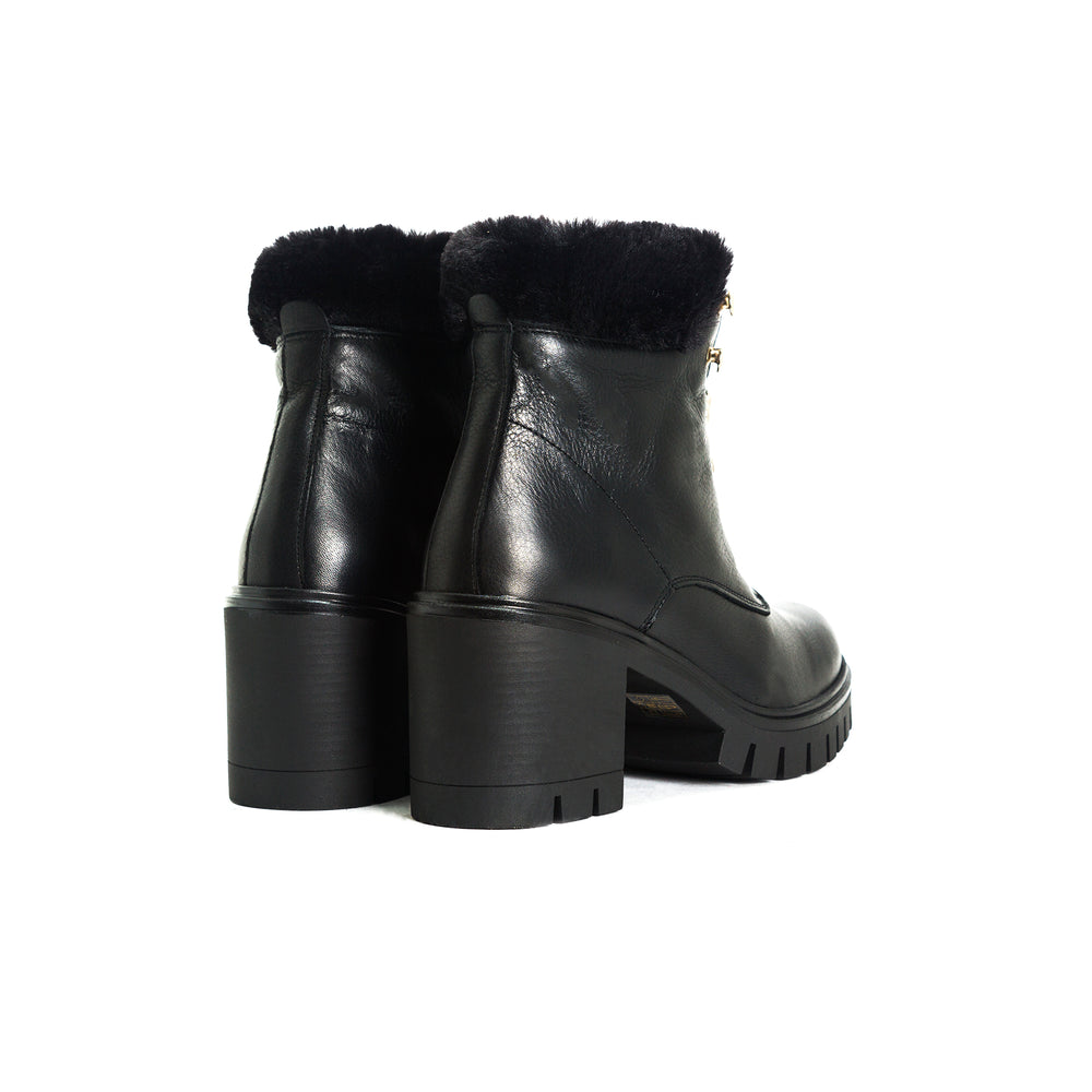 Hani Black Leather Boots