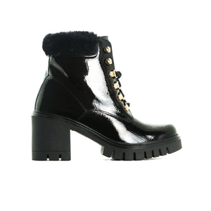 Load image into Gallery viewer, Hani Black Patent Boots