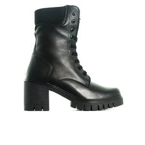Hariette Black Leather Boots