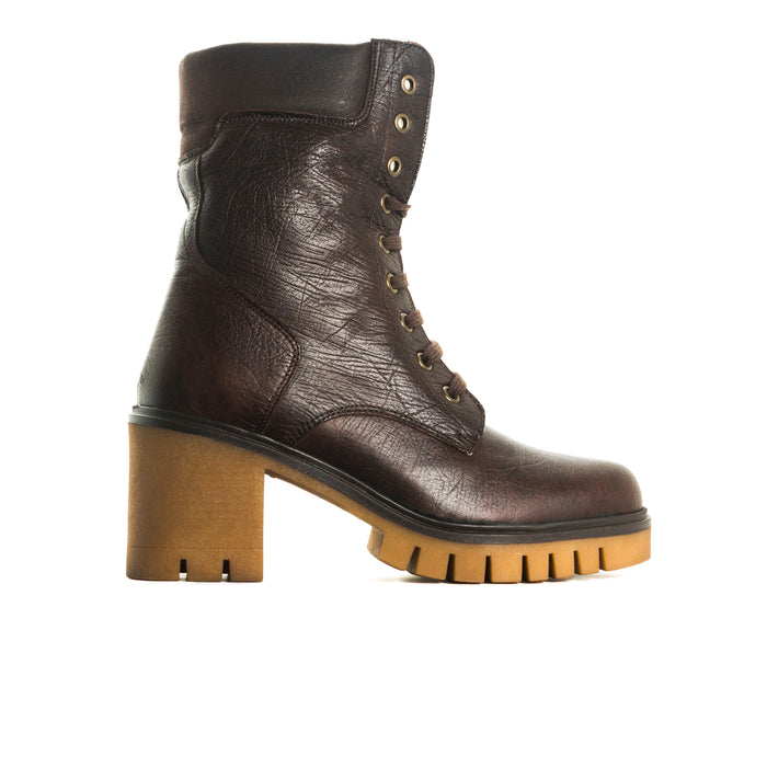 Hariette Brown Leather Boots