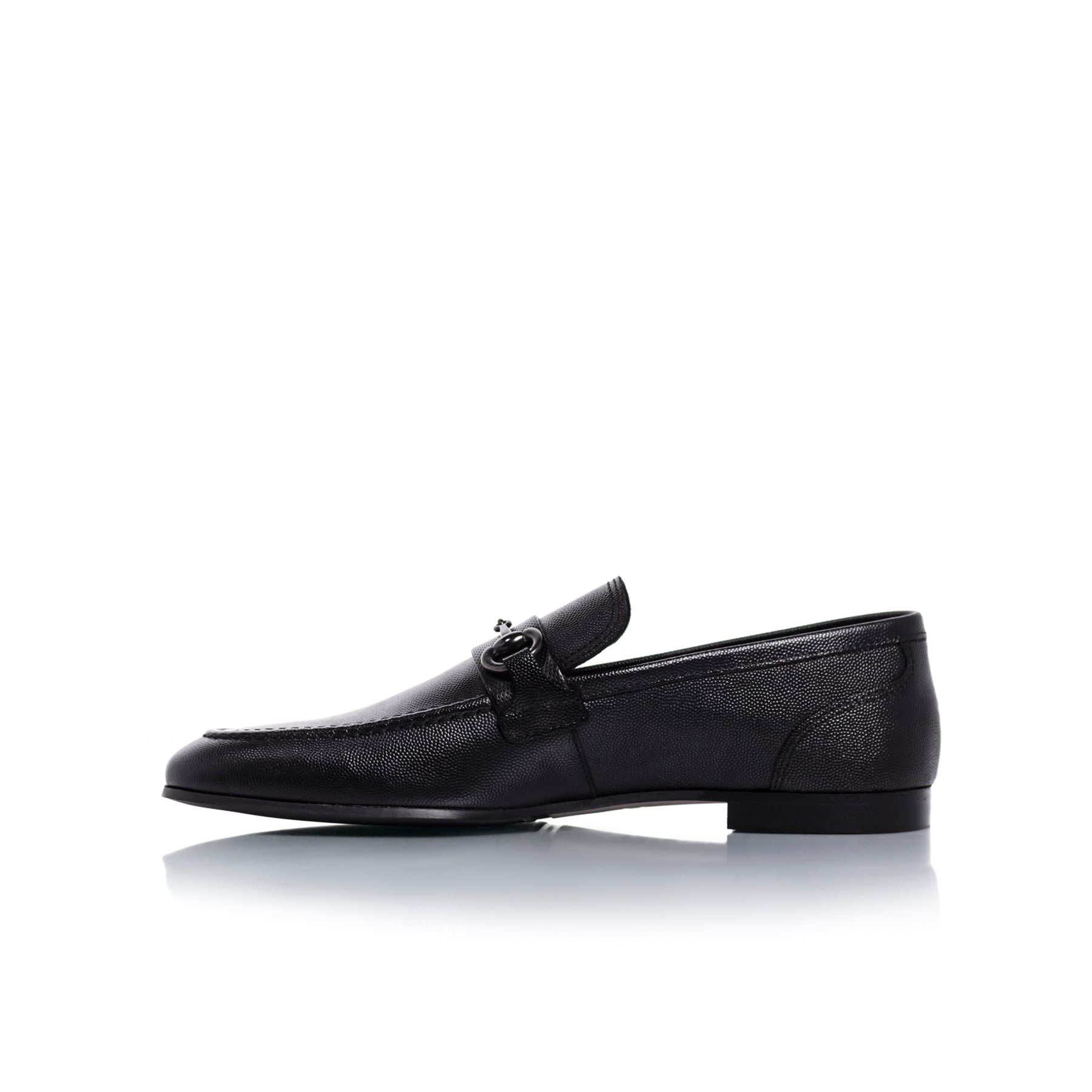 Heff Black Leather Shoes