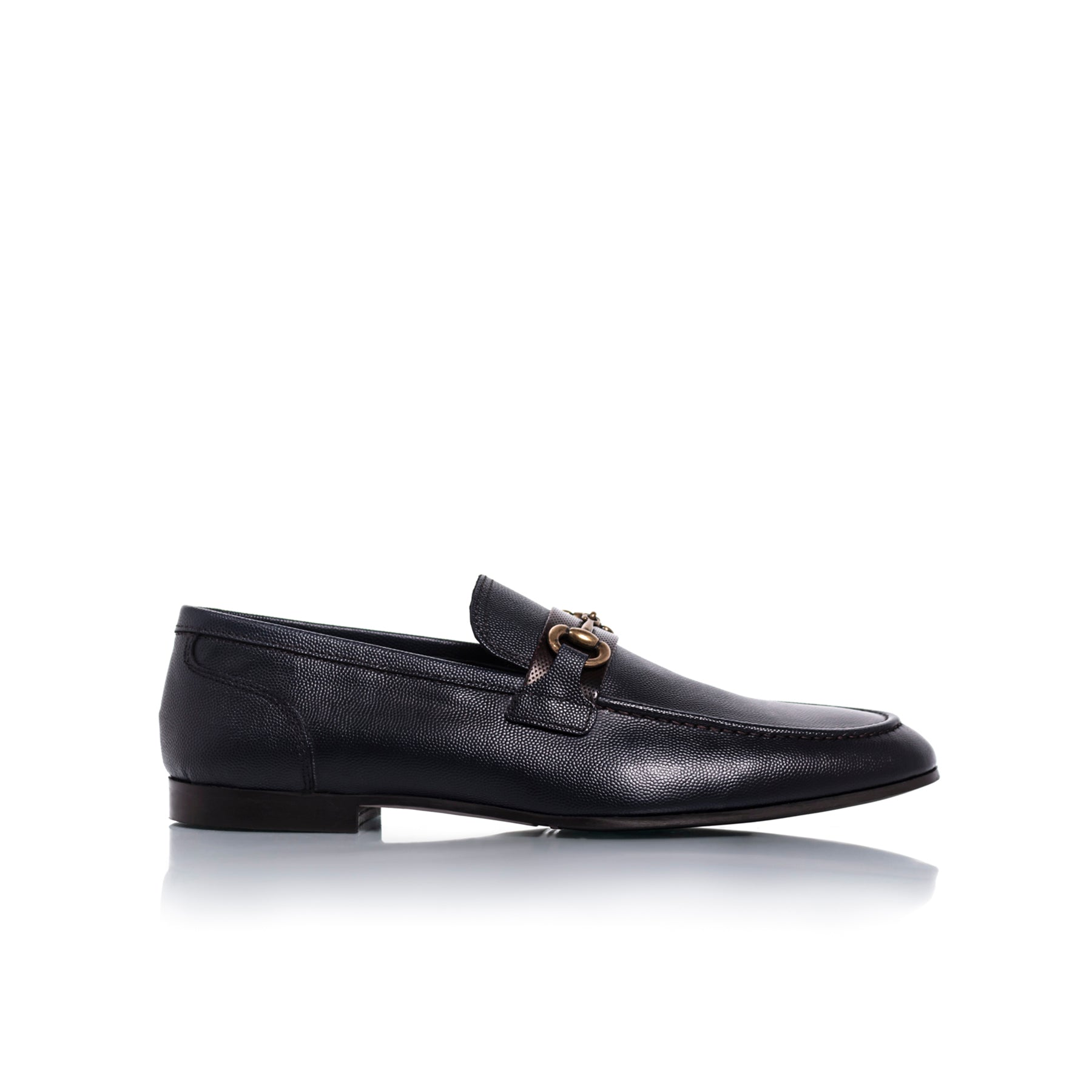 Heff Navy Leather Shoes