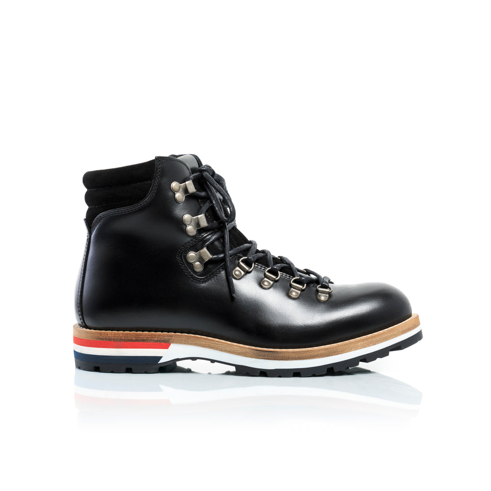 Hiker Black Leather Boots