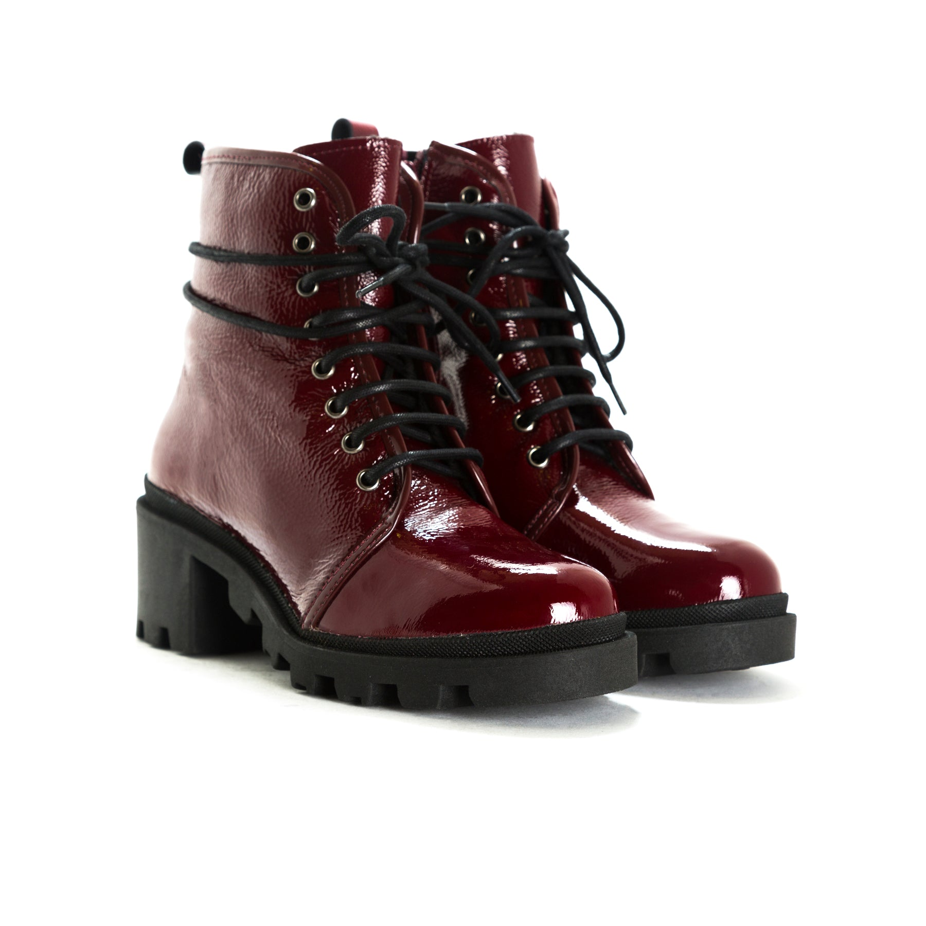 Holo Bordo Naplack Ankle Boots