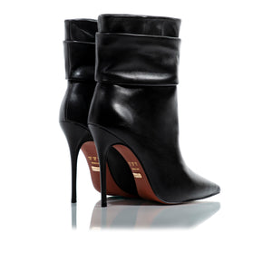 Iggy Black Leather Ankle-Boots