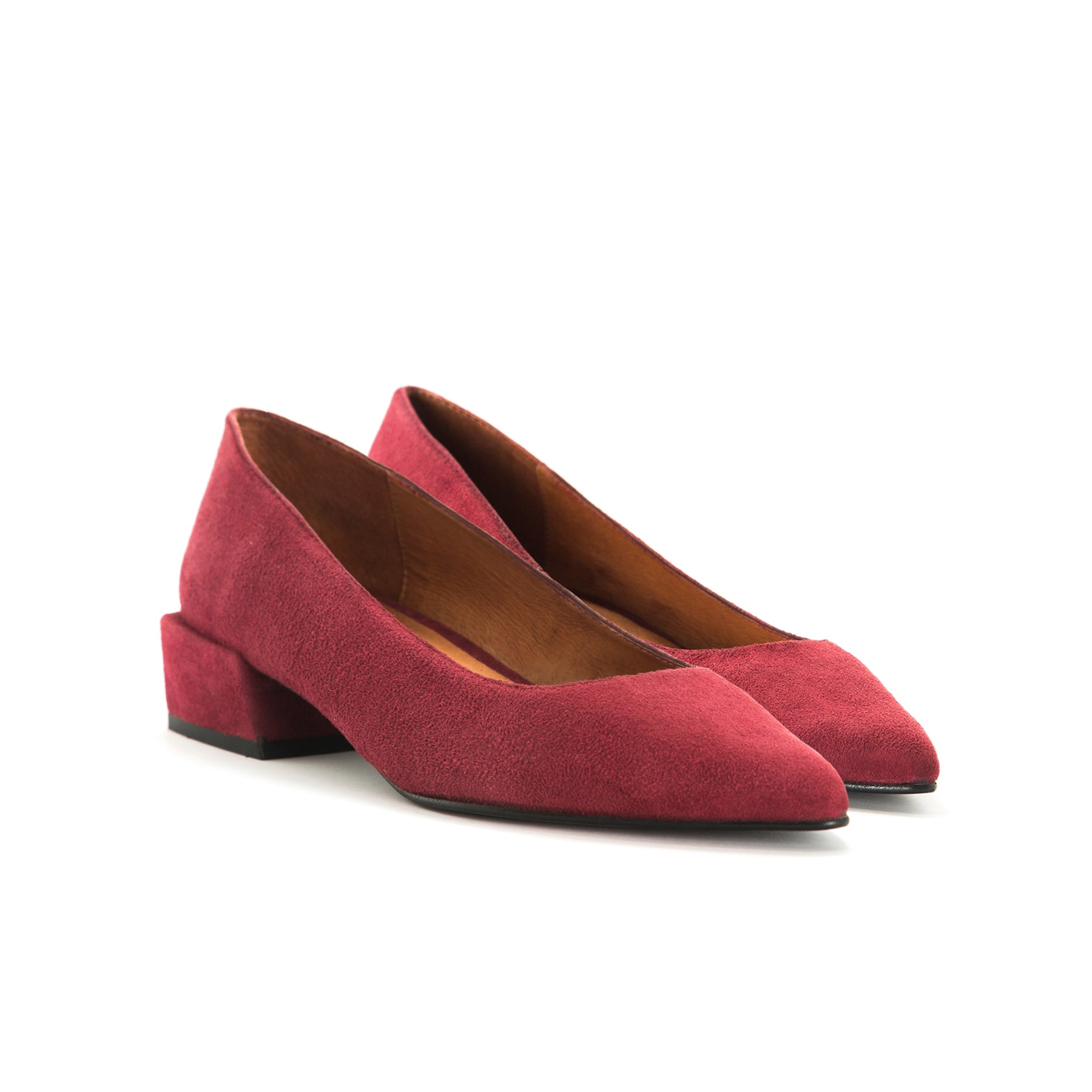 Ingrid Bordo Suede Shoes