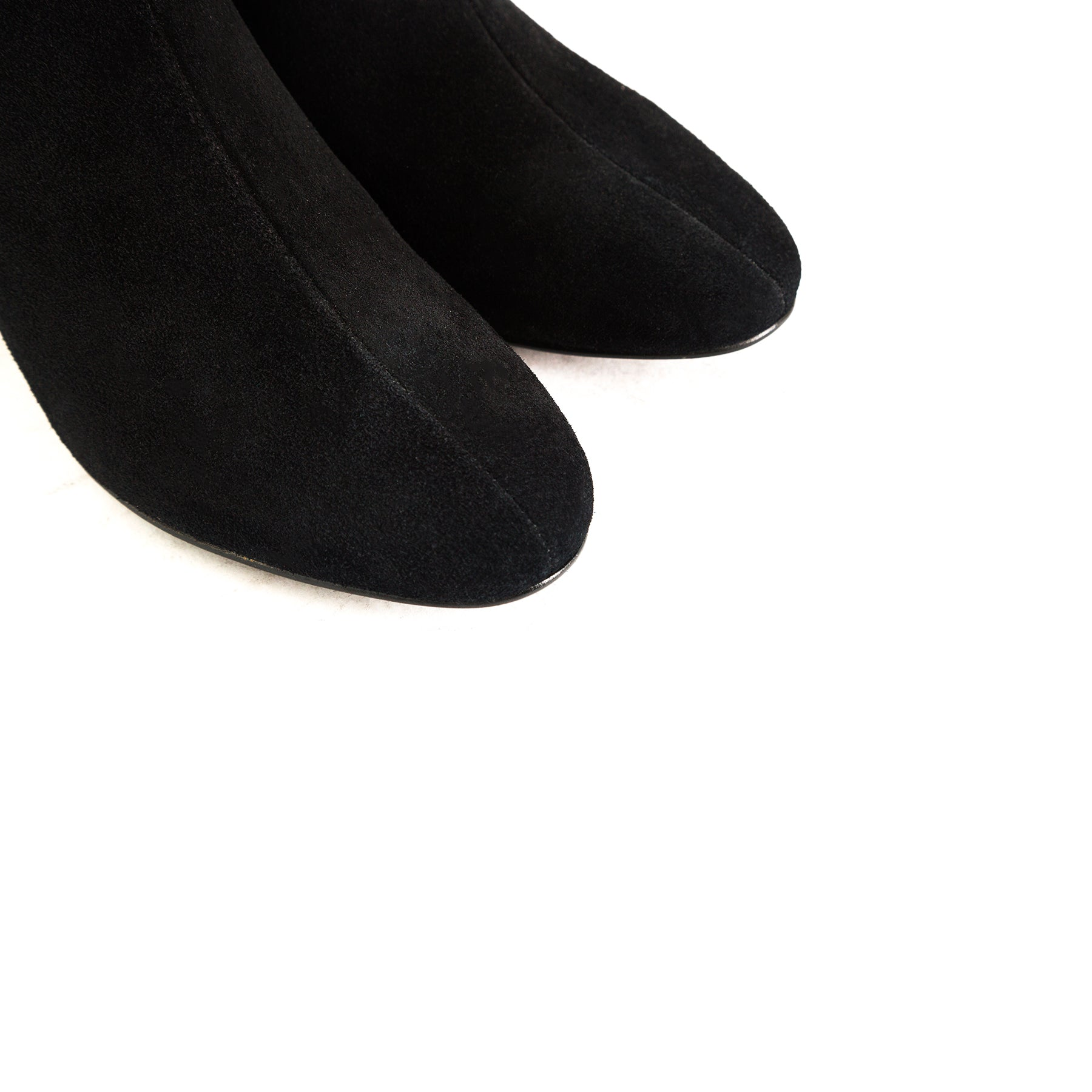Ithaca Black Suede Ankle Boots