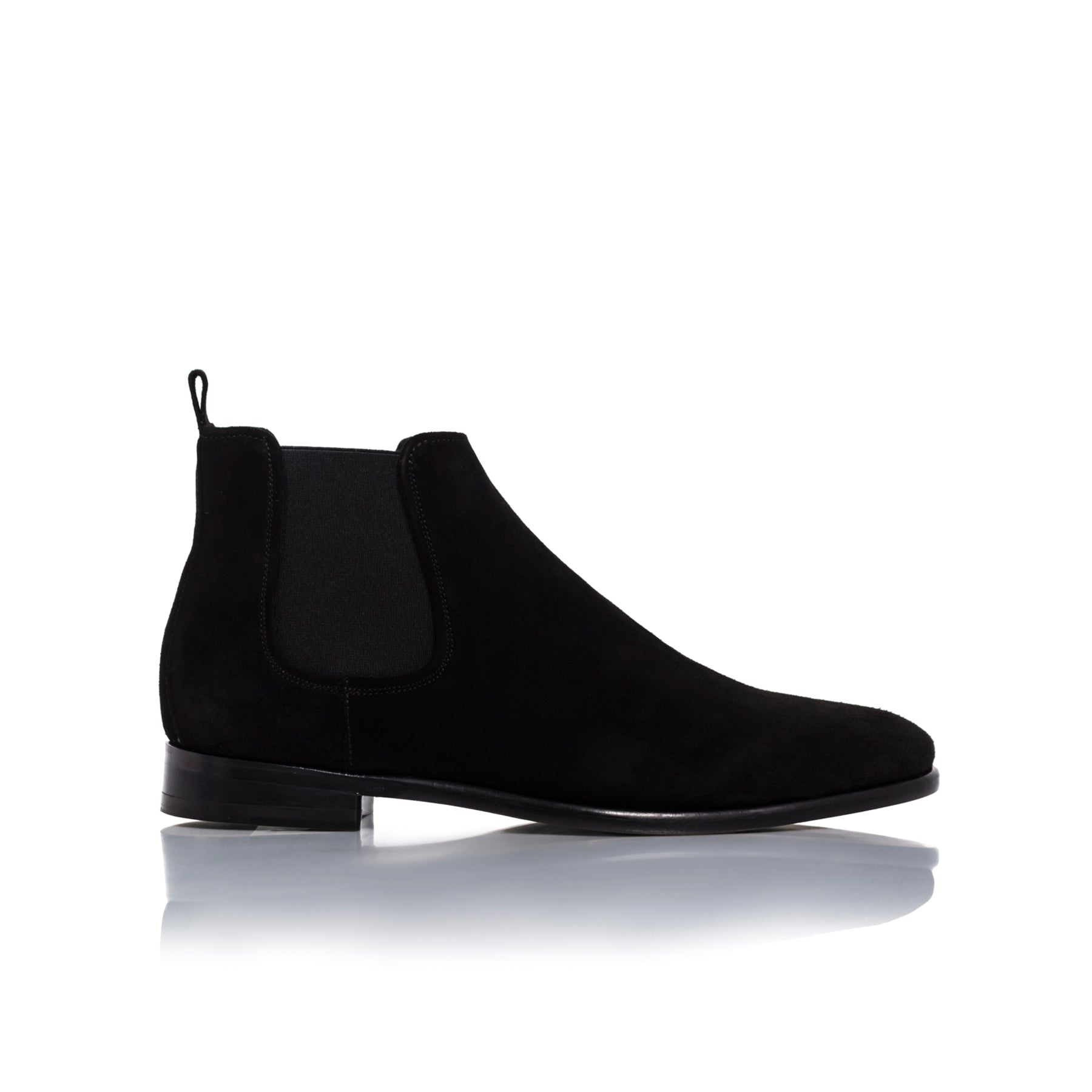 James Black Suede Boots