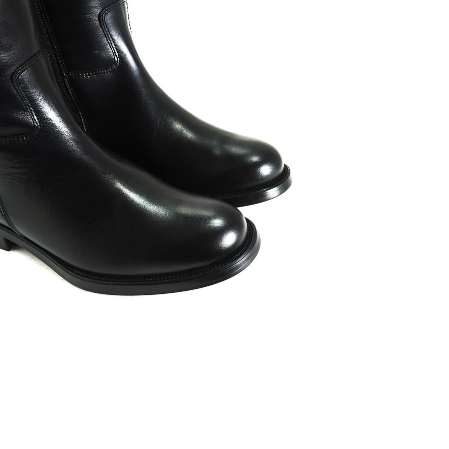 Jane Black Leather Boots