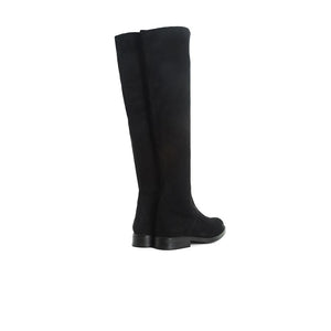 Janet Black Suede/Stretch Boots