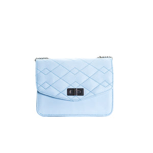 Load image into Gallery viewer, Joelle Blue Leather Shoulder Bags