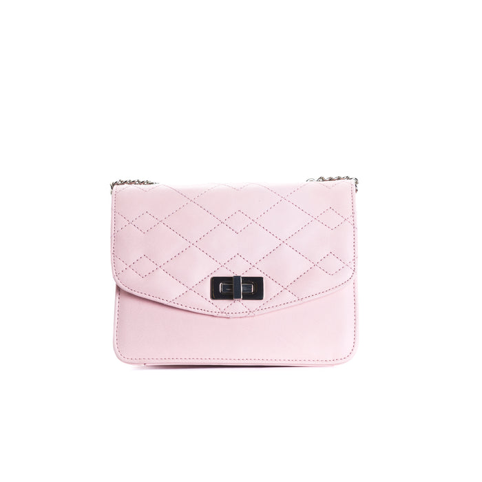 Joelle Pink Leather Shoulder Bags