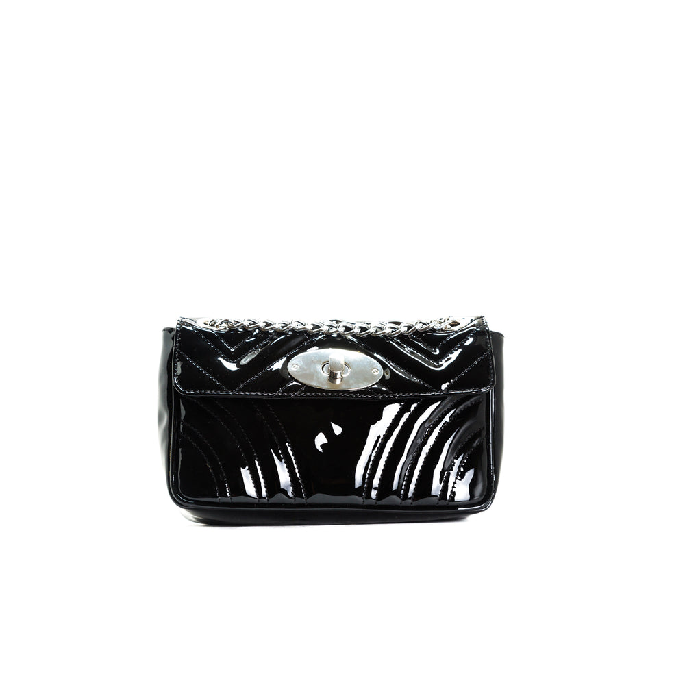Load image into Gallery viewer, Juliet Black Patent Shoulder Bags