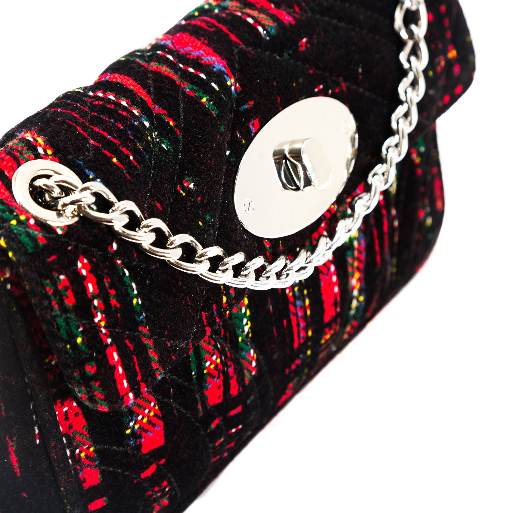 Juliet Red/Green Fabric Shoulder Bags