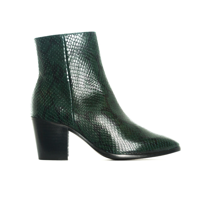 Quersy Green Snake Leather
