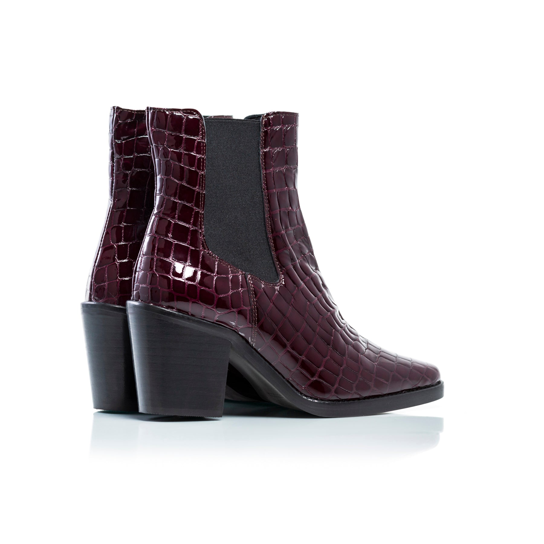 Kentucky Bordeau Croco Ankle Boots