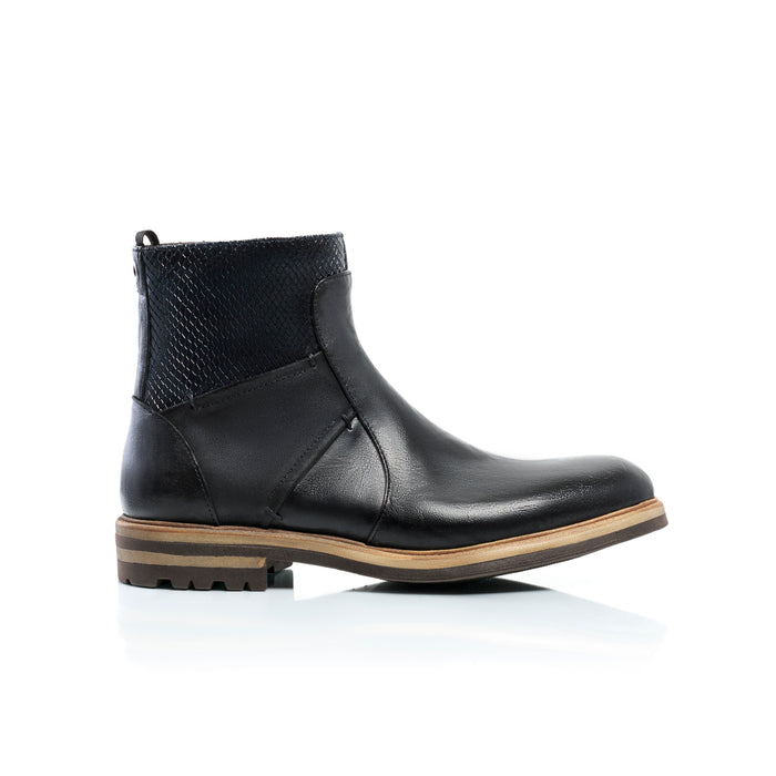 Konstantine Black Leather Boots