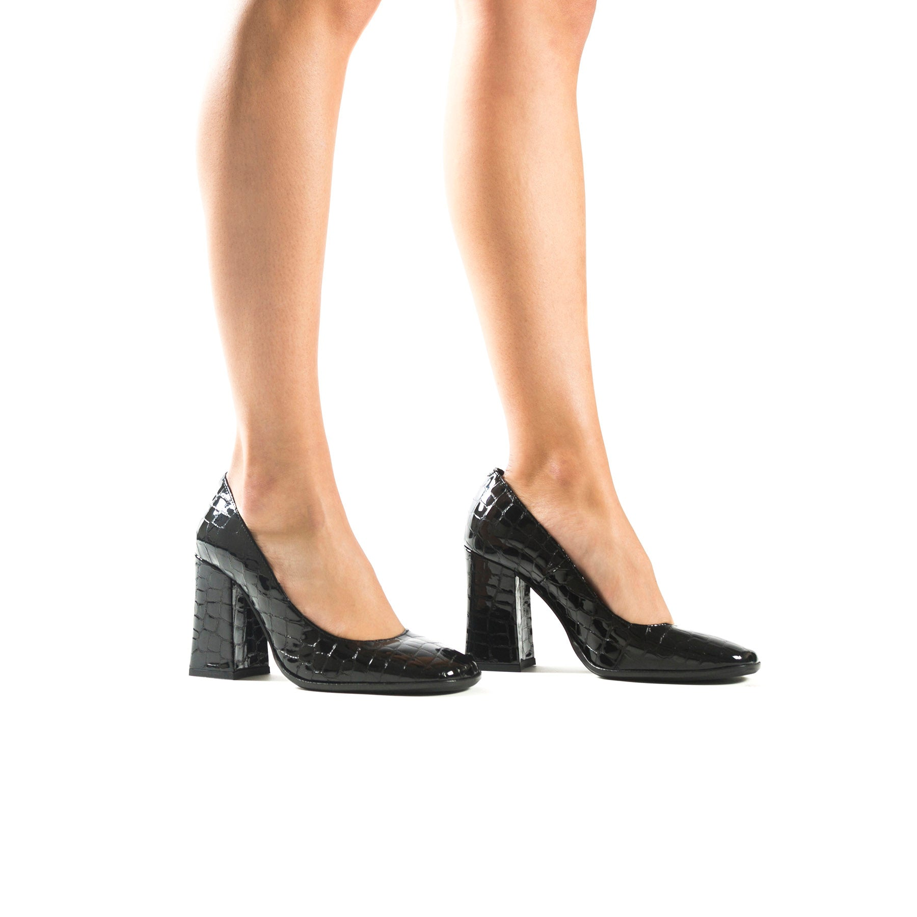 Lady Black Croco Pumps