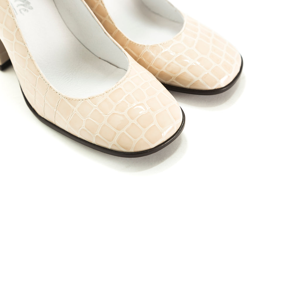 Lady Nude Croco Pumps