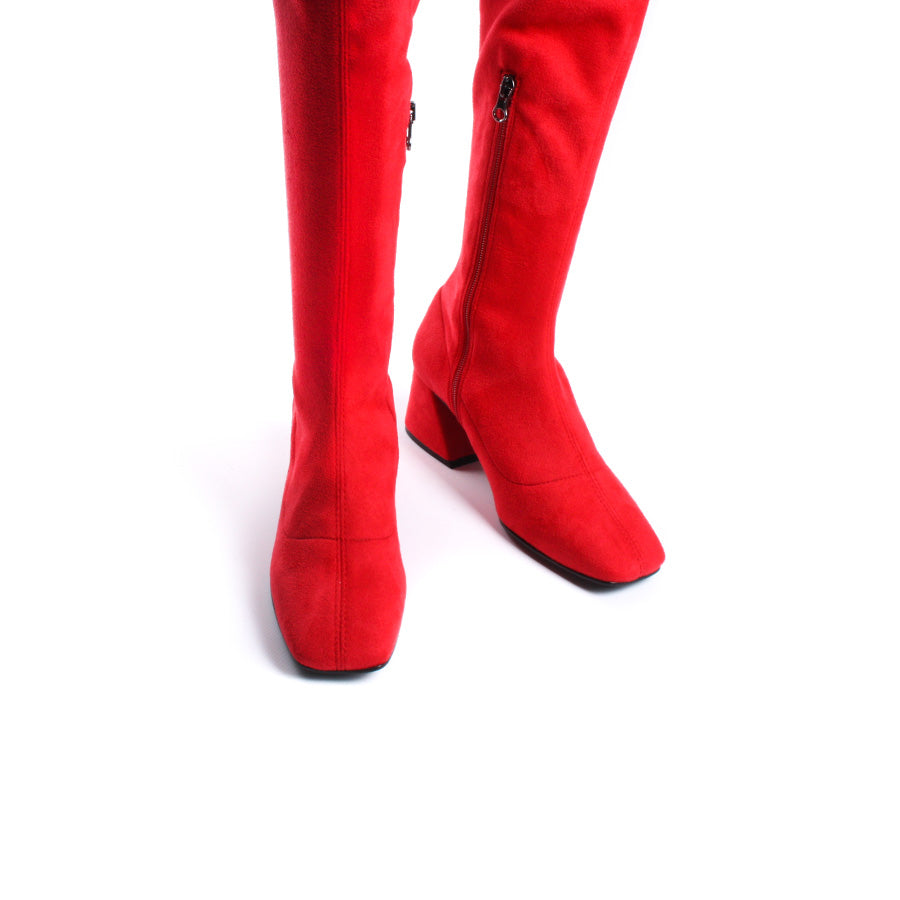 Linden Red Stretch-Suede