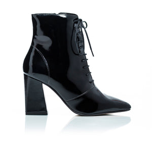 Lizzy Black Naplack Ankle Boots