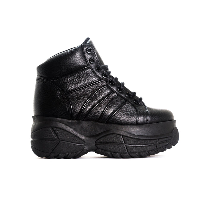 Lux Black Leather Sneakers