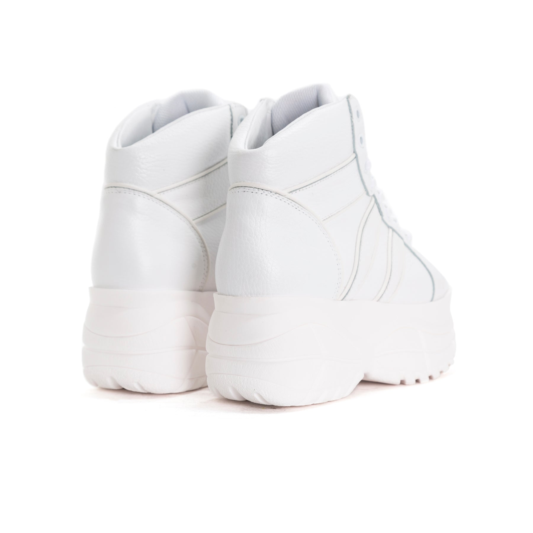 Lux White Leather Sneakers