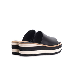 Load image into Gallery viewer, Lysana Black Leather Sandals