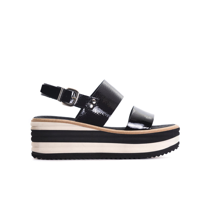 Lysan Black Naplack Sandals