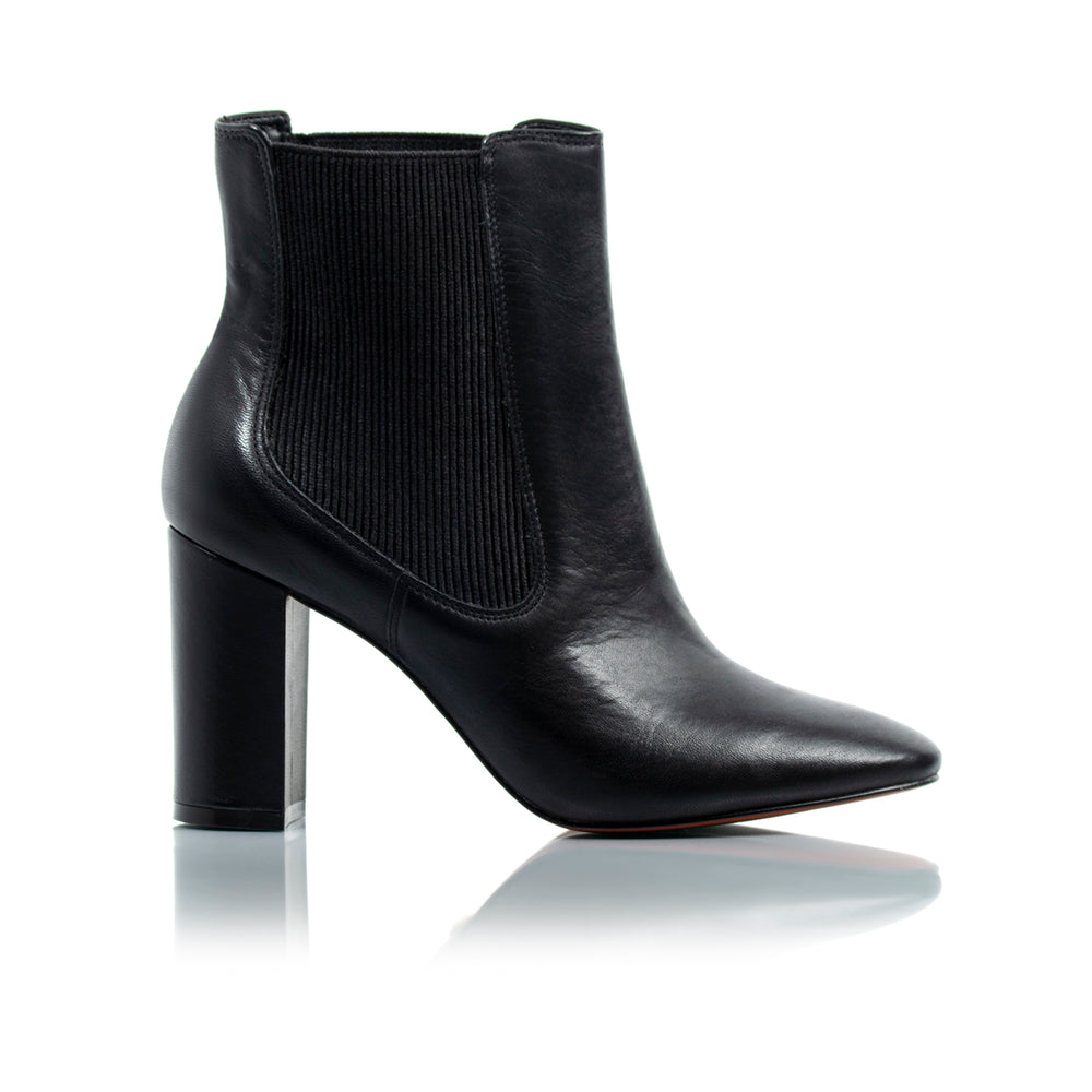 Mace Black Leather Ankle Boots