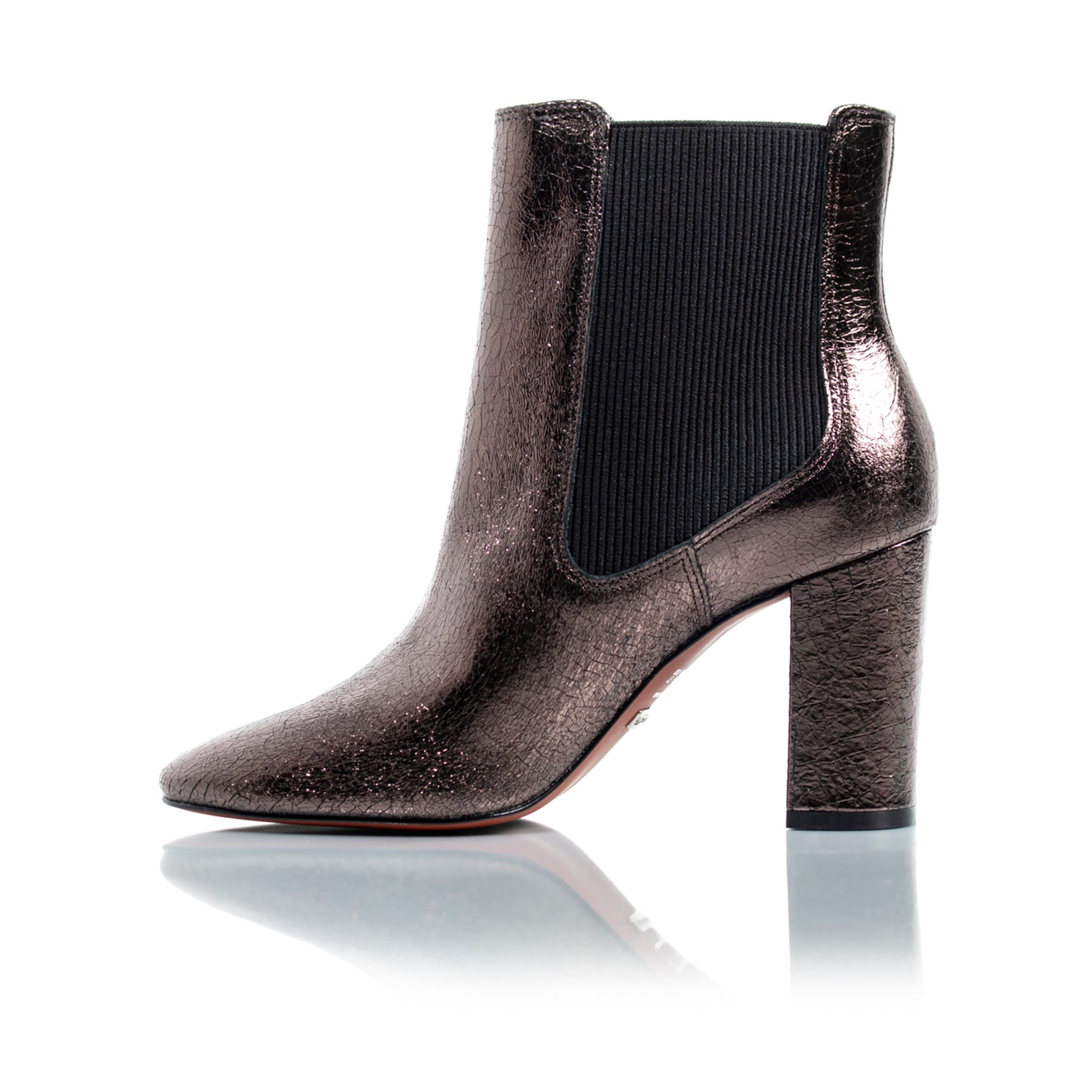 Mace Pewter Naplack Ankle Boots