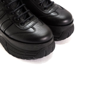 Magic Black Leather Sneakers