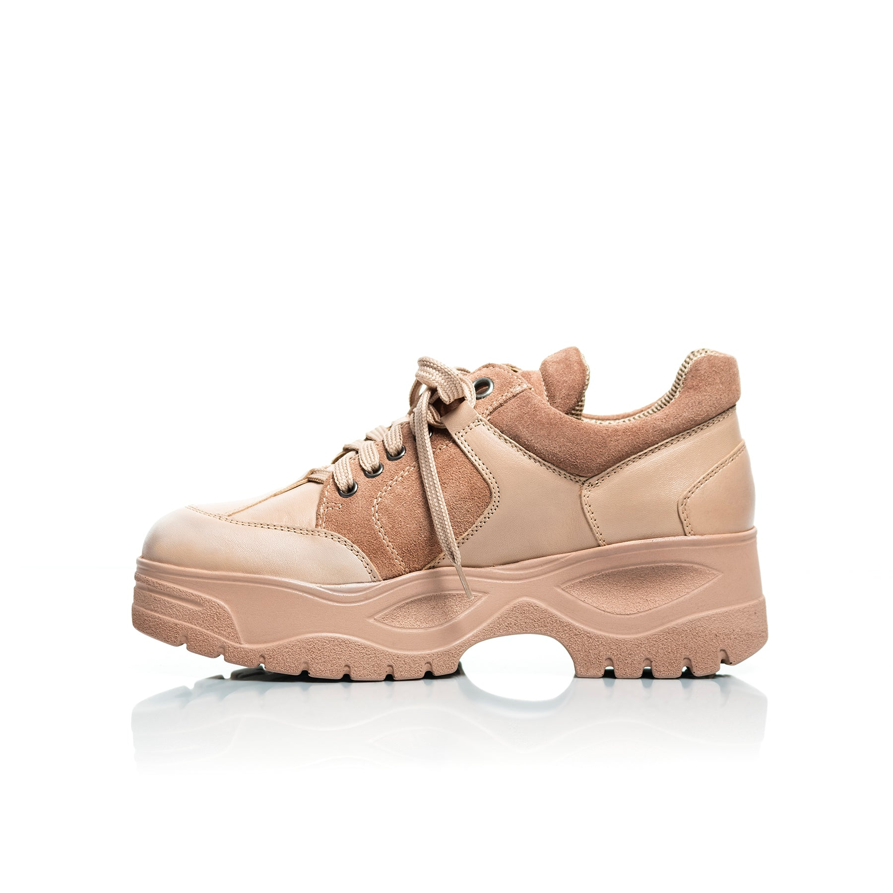 Mag Nude Leather Sneakers