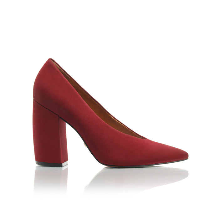 Mara Plum Nubuck Pumps