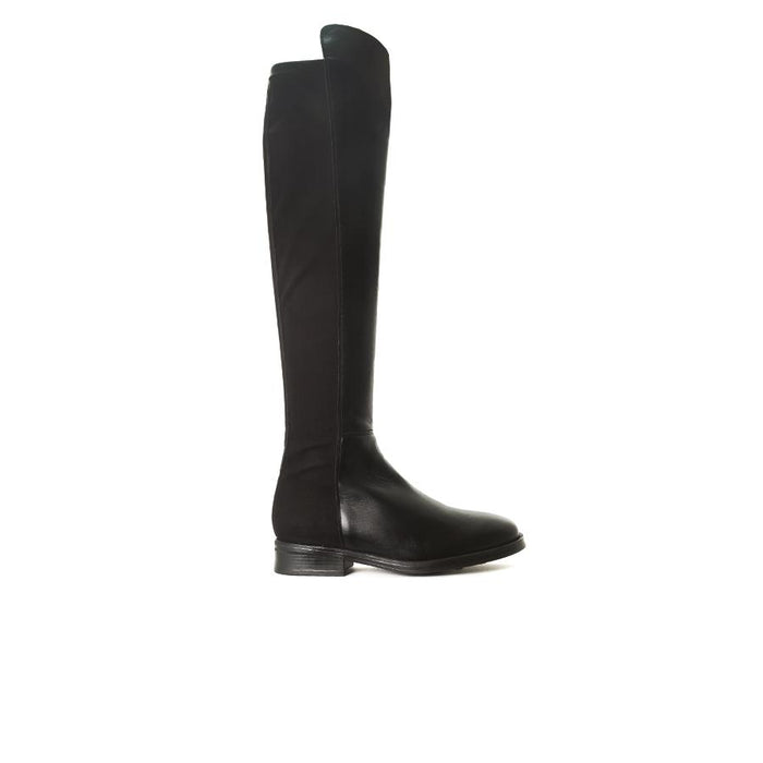 Matty Black Leather Boots