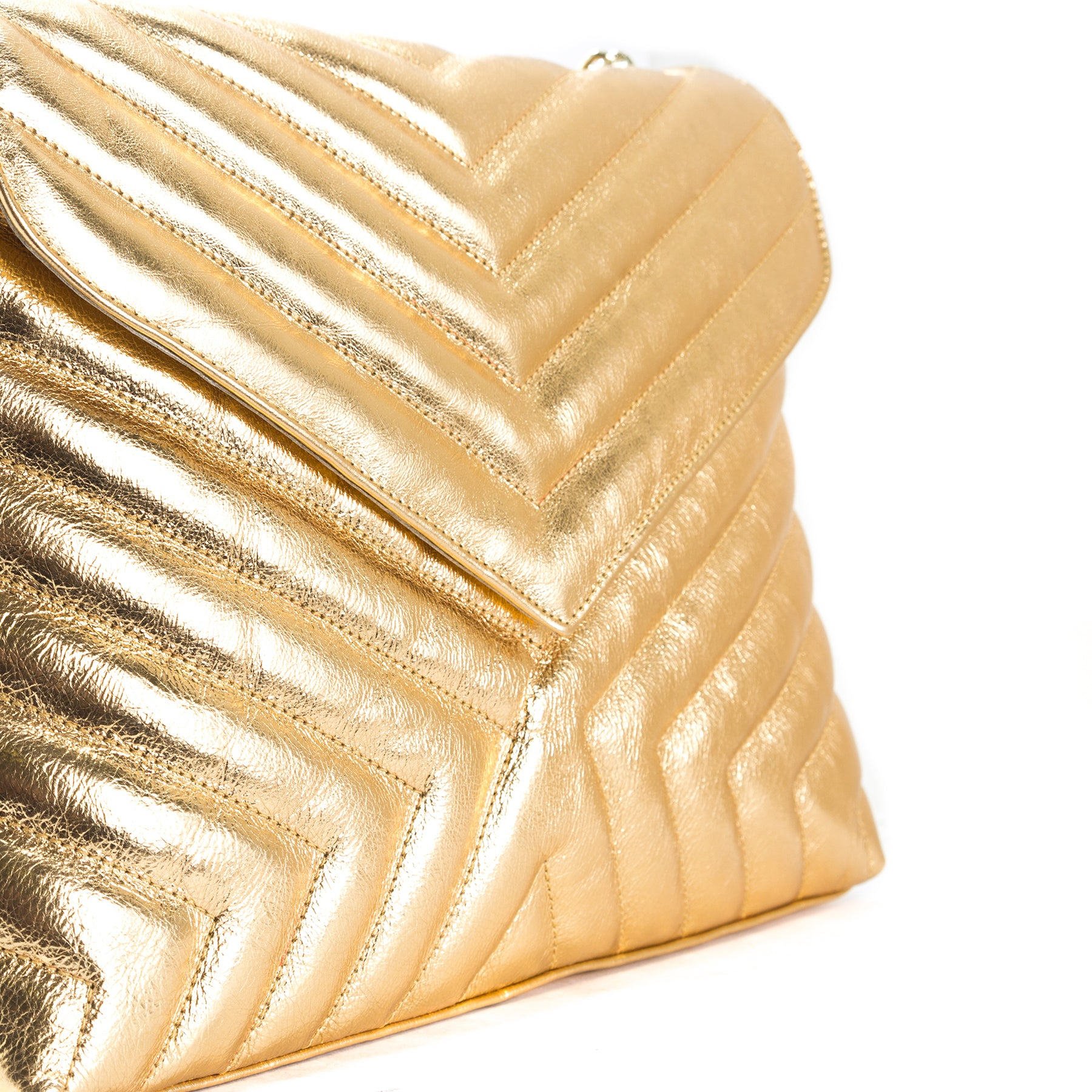 Melpo Gold Leather Bags