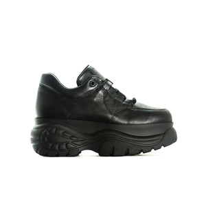 Moster Black Leather Sneakers