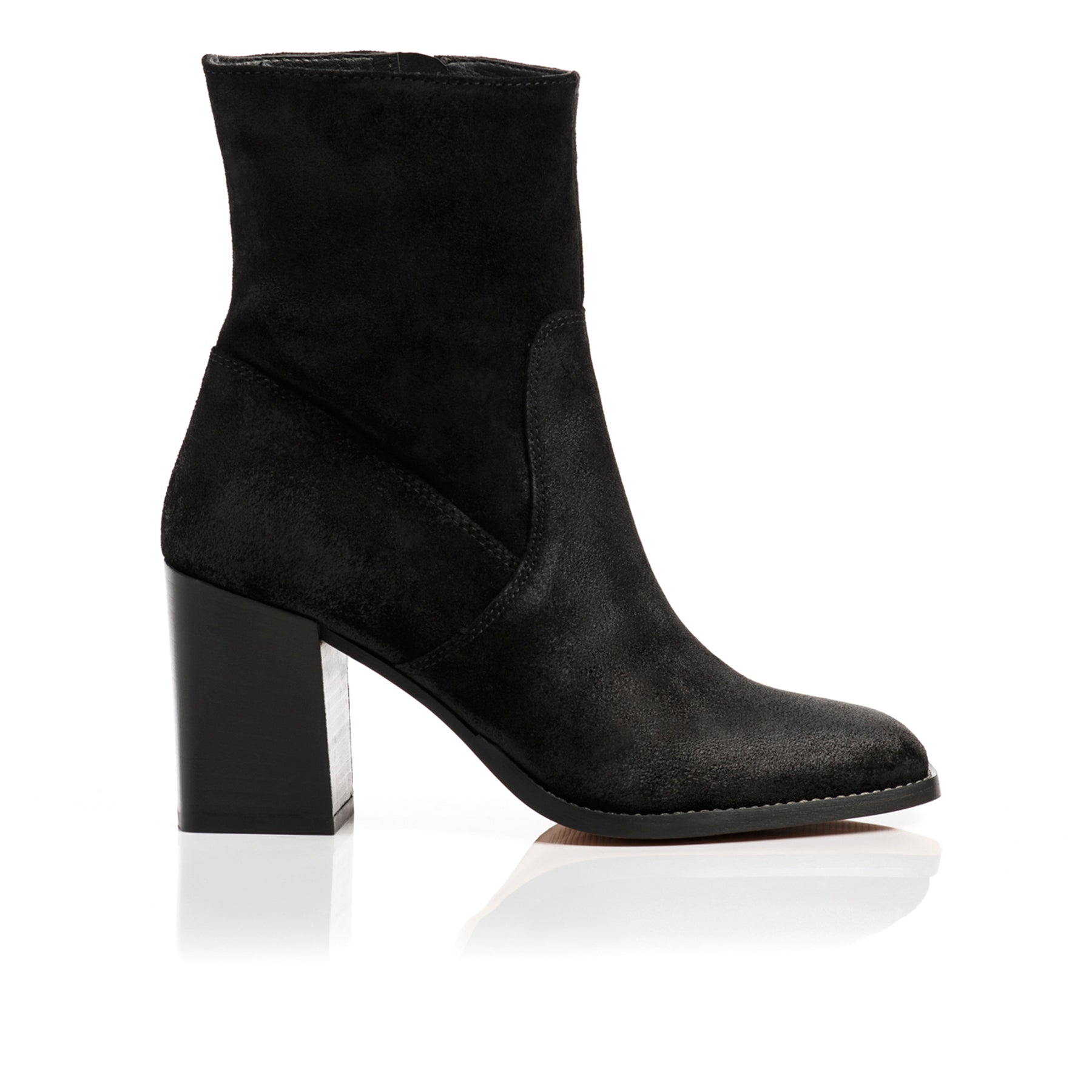 Nadine Black Suede Ankle Boots