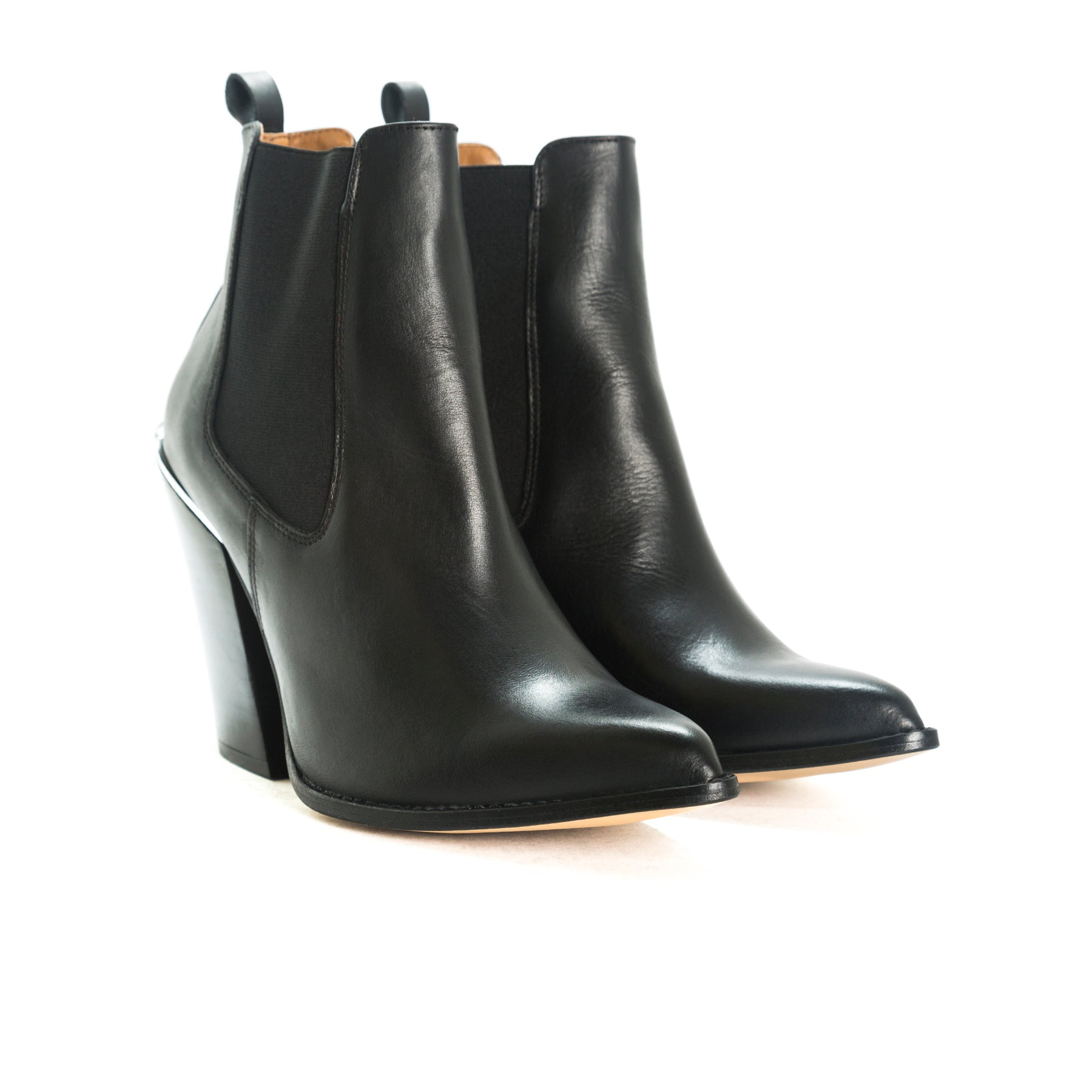 Nartoro Black Leather Boots