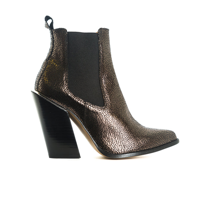 Nartoro Gun Metal Leather Boots