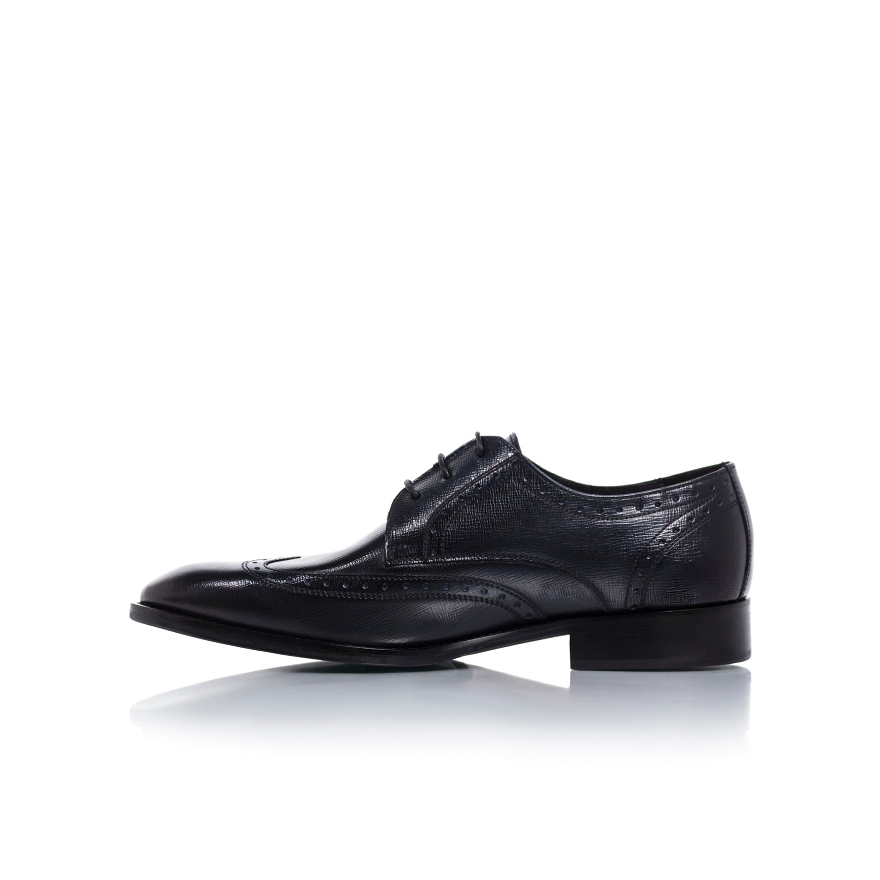 Nicholas Navy Leather Shoes