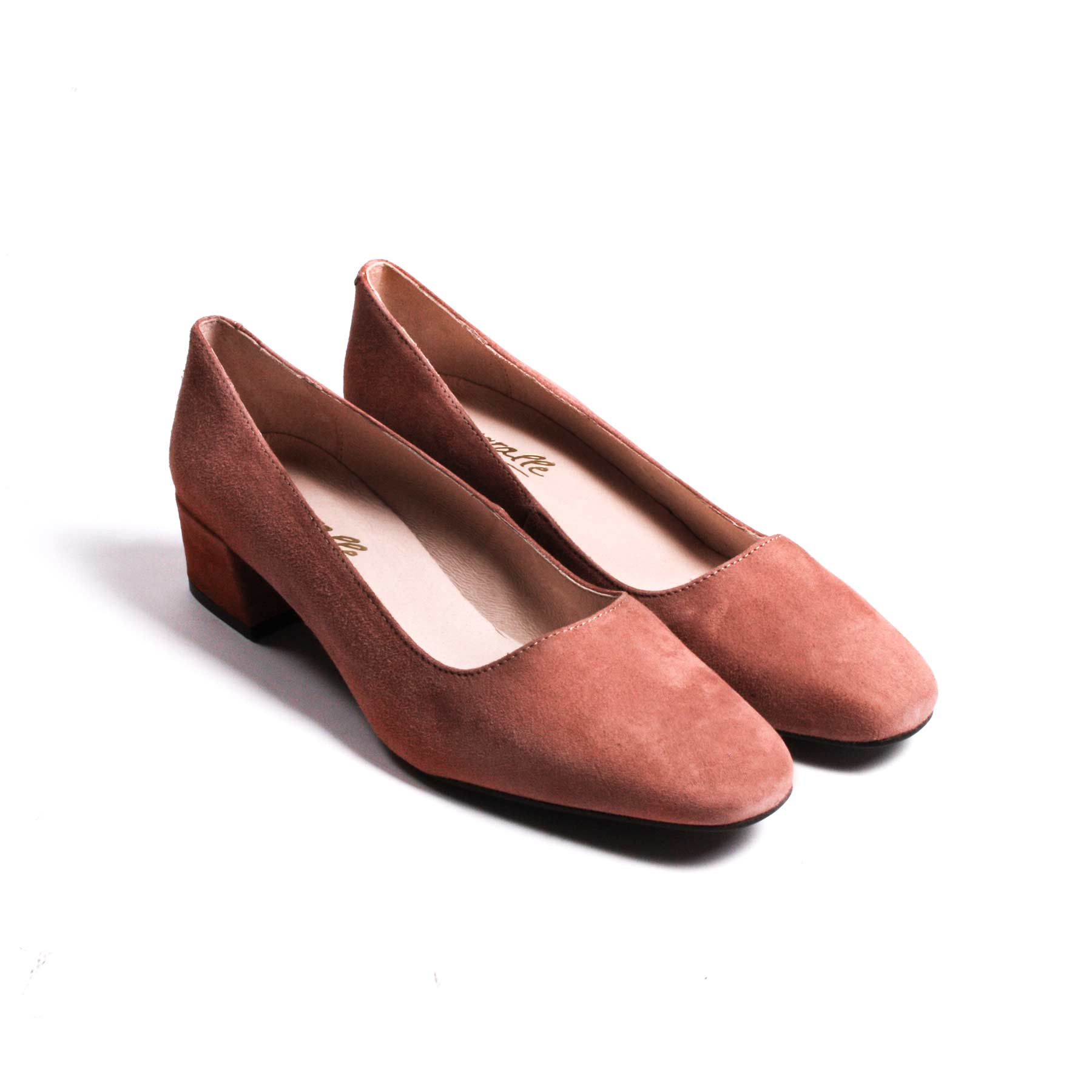 Trina Dusty pink Suede