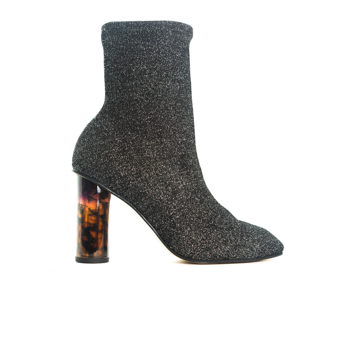 Normary Silver Fabric Boots