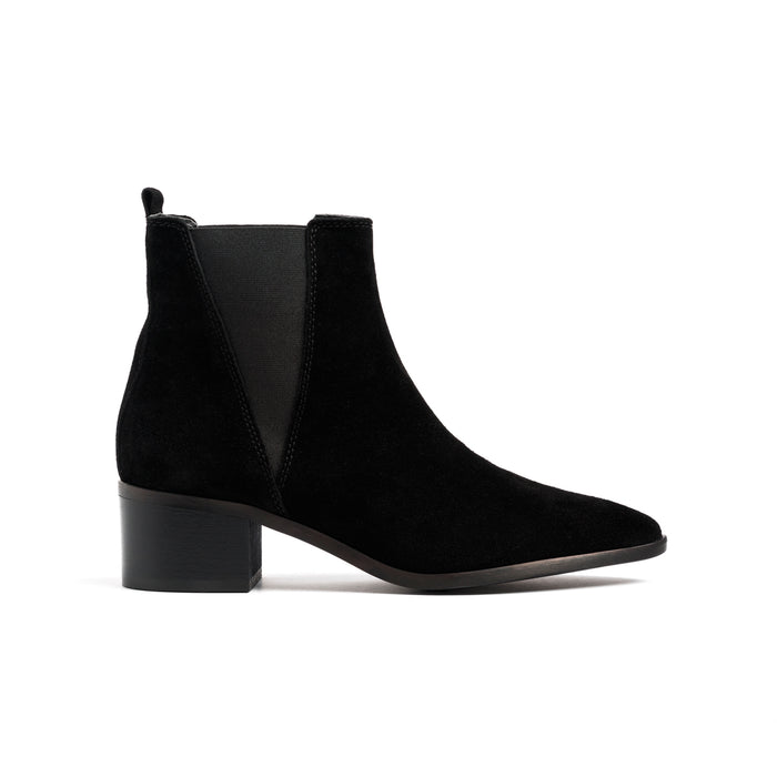Perth Black Suede Boots