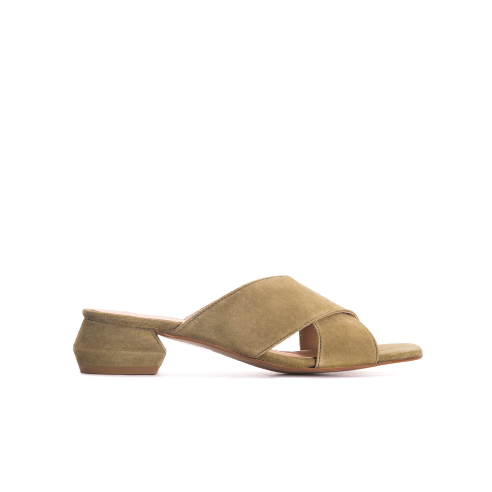 Load image into Gallery viewer, Prego Khaki Suede Sandals