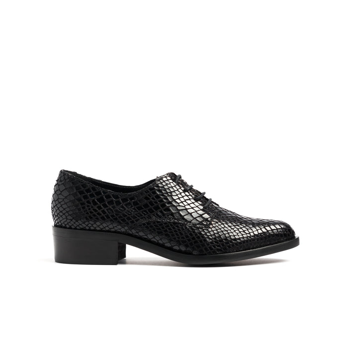 Rabat Black Snake Shoes