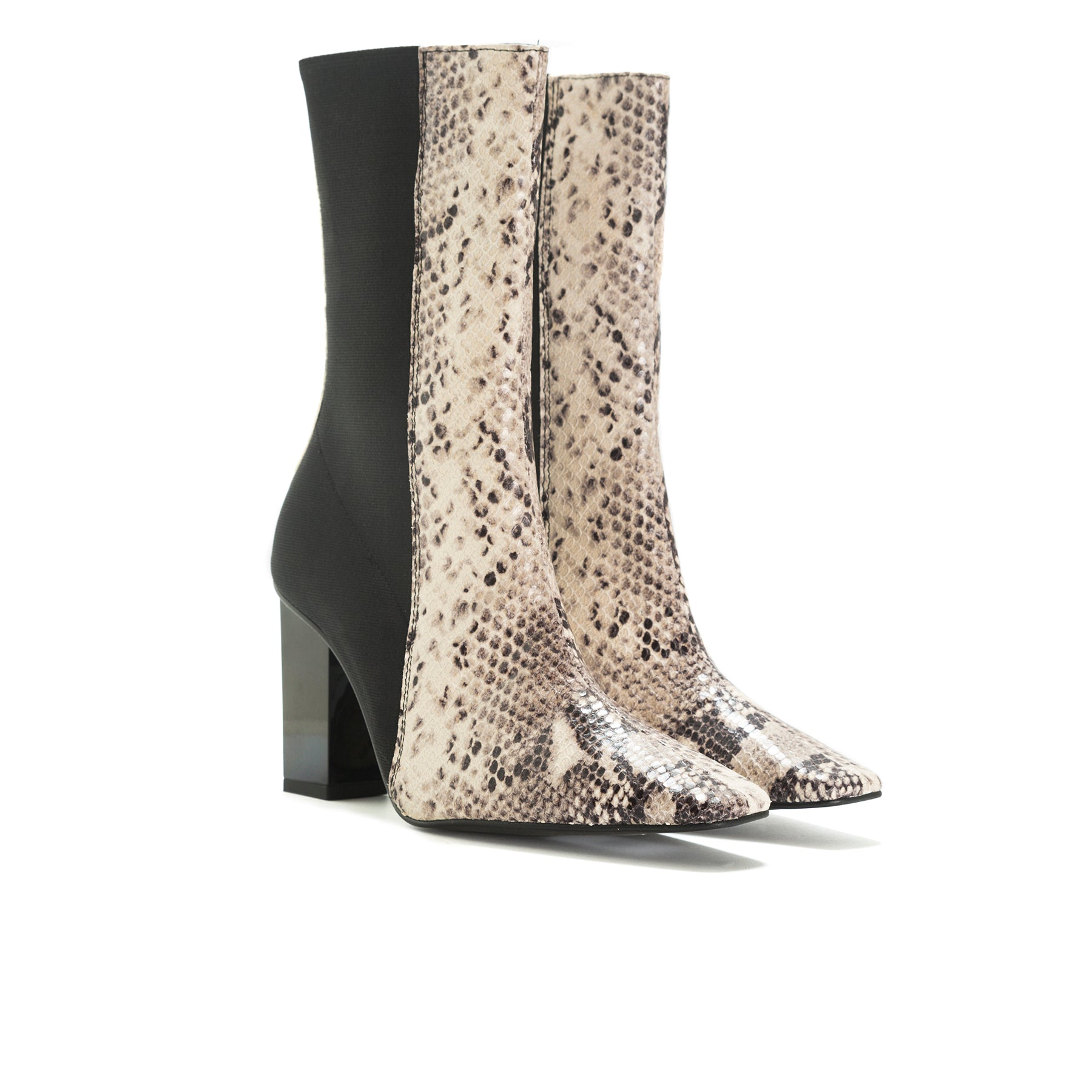 Reine Natural Snake Ankle Boots
