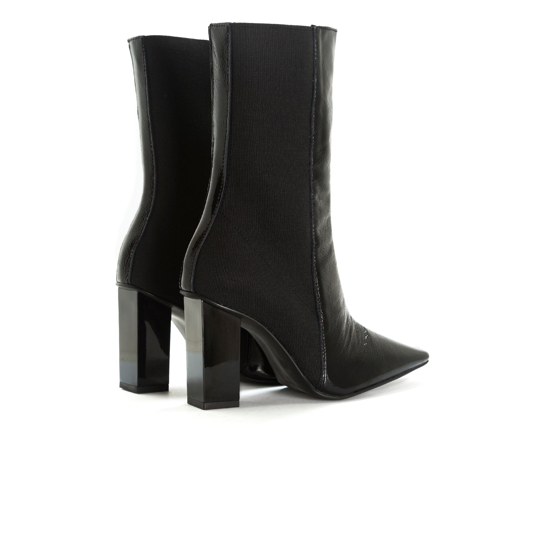 Reine Black Naplack Ankle Boots