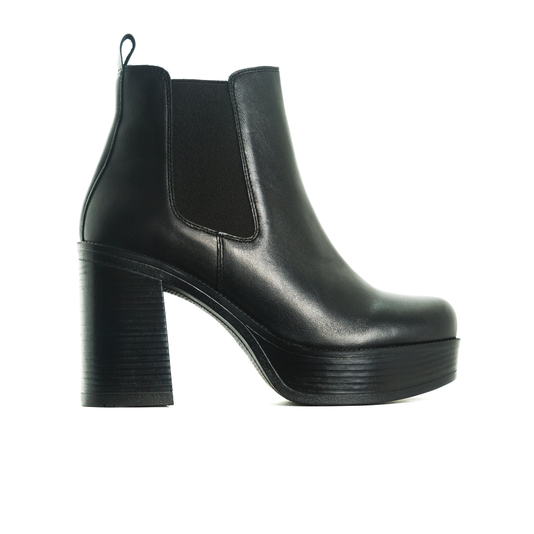 Sally Black Leather Boots