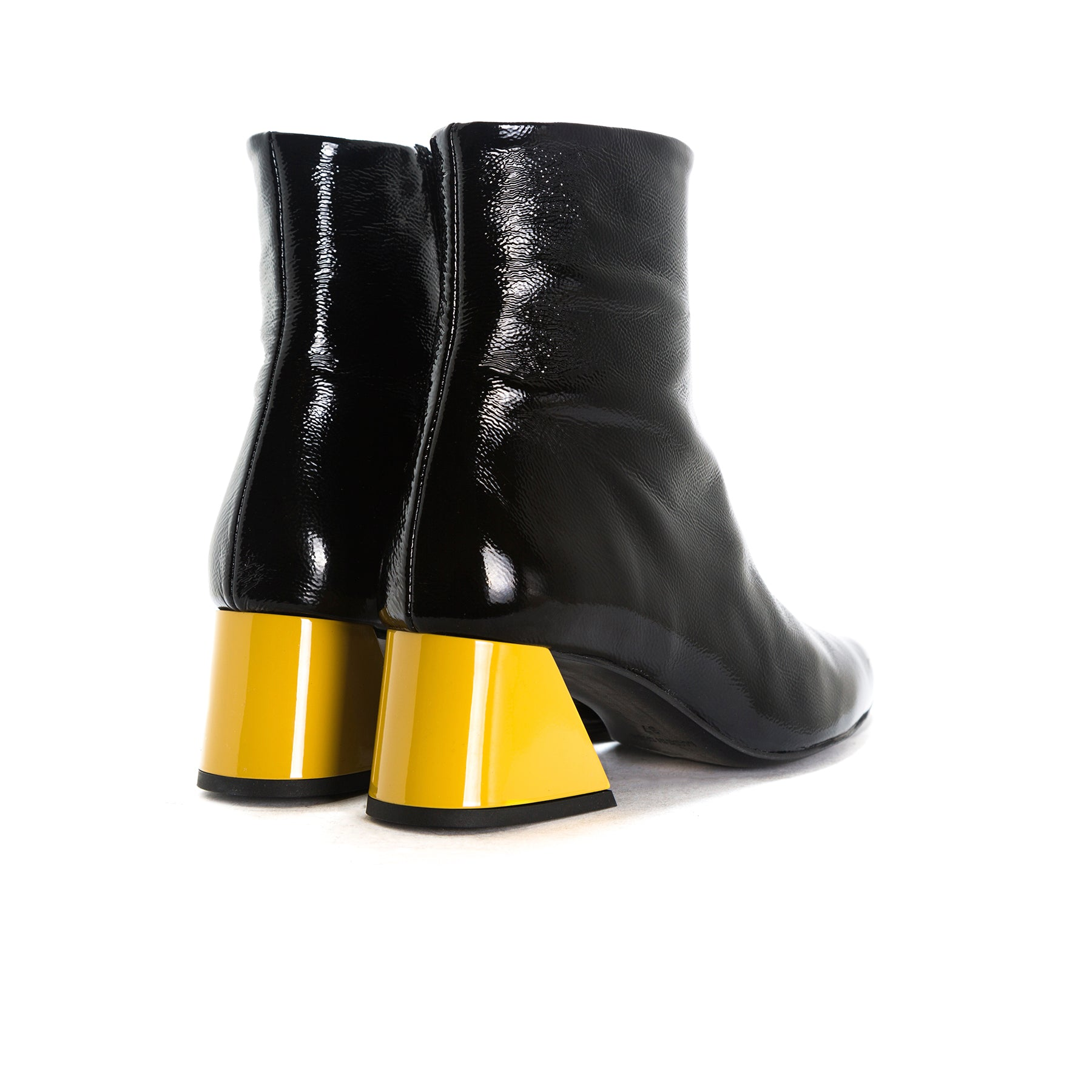 Salonika Black Naplack Ankle Boots